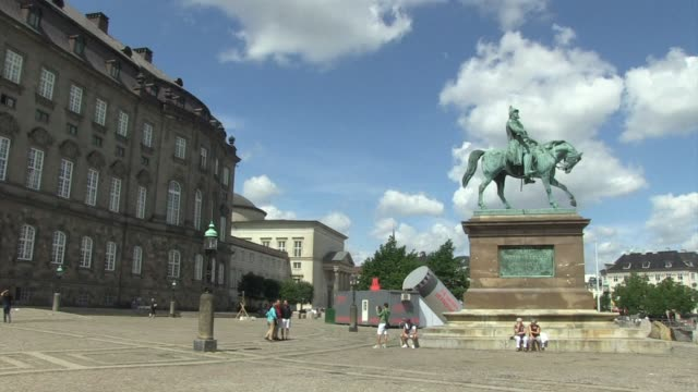 copenhagen residents react to danish prime minister helle thorning schmidt being among the favourites to become the new head of the european council... - oresund region stock videos & royalty-free footage