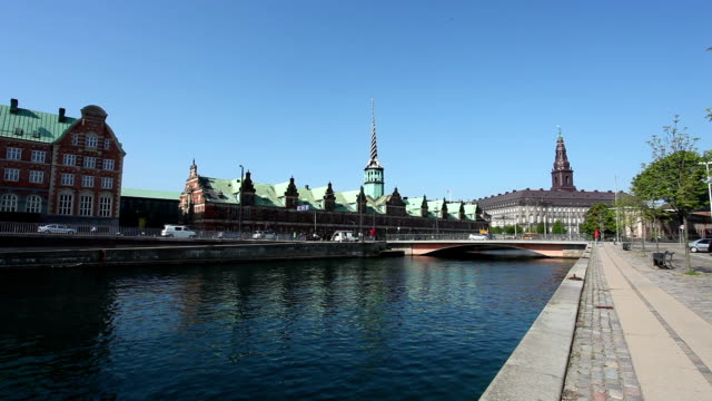Copenhagen Skyline with Stock Exchange