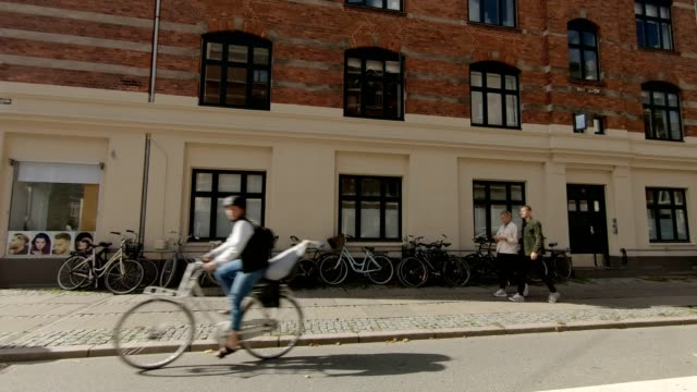 copenhagen østerbro ii synced series right view driving process plate - plate stock videos & royalty-free footage