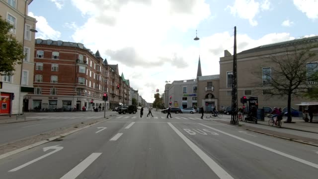 copenhagen østerbro iii synced series front view driving process plate - car point of view stock videos & royalty-free footage