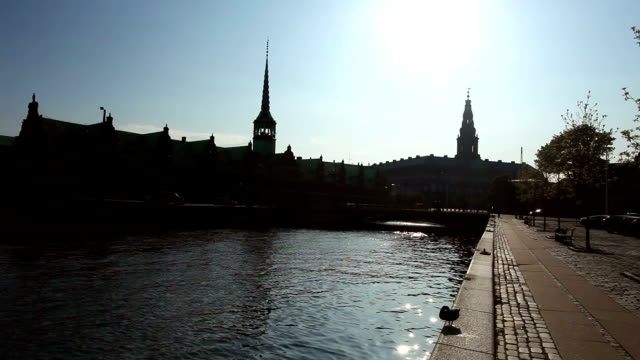 copenhagen stock exchange - against the light - denmark stock videos & royalty-free footage