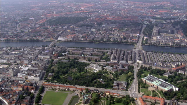 copenhagen - the lakes  - aerial view - capital region, denmark - capital region stock videos & royalty-free footage