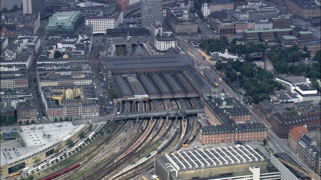Copenhagen - Train Station  - Aerial View - Capital Region, Copenhagen municipality, Denmark