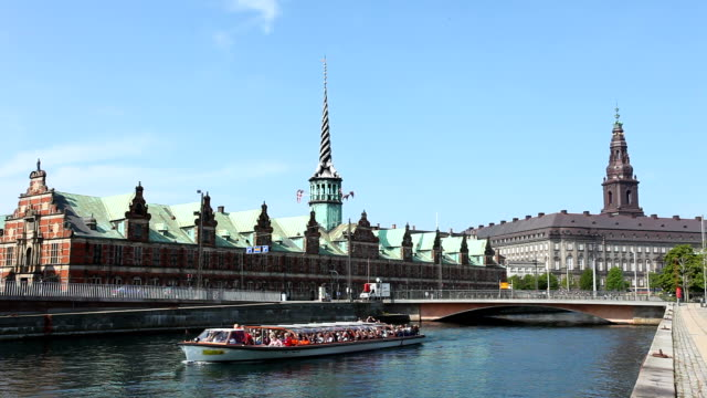 copenhagen with stock exchange - parliament building stock videos & royalty-free footage