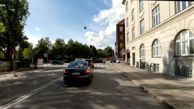 コペンハーゲン xxii 同期シリーズ前輪駆動でスタジオ プロセス プレート バック グラウンド - 車の視点点の映像素材/bロール