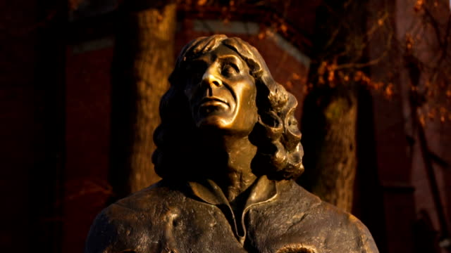 copernicus monument - bust sculpture stock videos and b-roll footage