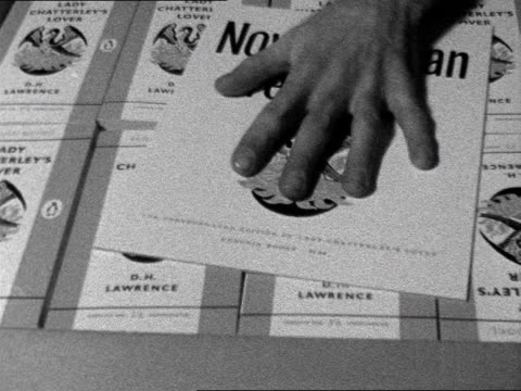 copies of lady chatterley's lover are packed into boxes for distribution. november 1960. - d.h. lawrence bildbanksvideor och videomaterial från bakom kulisserna