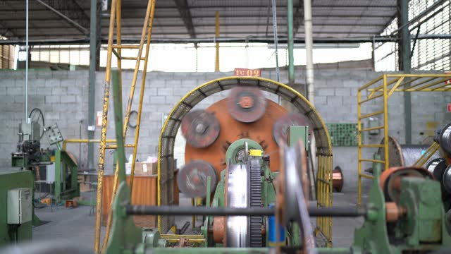 copper cables in a factory - cable stock videos & royalty-free footage