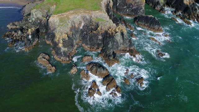 copper coast cliffs, ireland - seascape stock videos & royalty-free footage