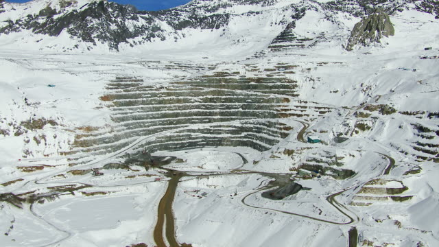 Copper Mine In Andes Mountains Chile