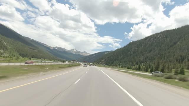 copper mountain 9 synced series front highway 70 summer driving - number 9 stock videos & royalty-free footage