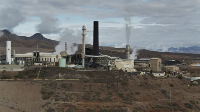 copper smelter - aerial shot - arizona stock videos & royalty-free footage