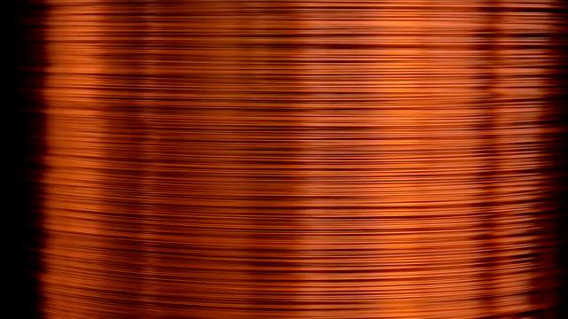 vídeos y material grabado en eventos de stock de dibujo de alambre de cobre - bobina