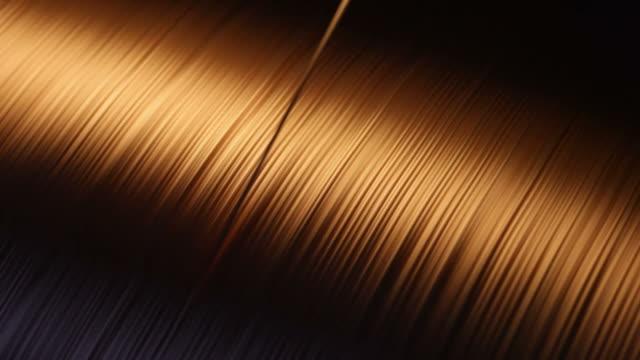 cavo in rame - filo metallico video stock e b–roll