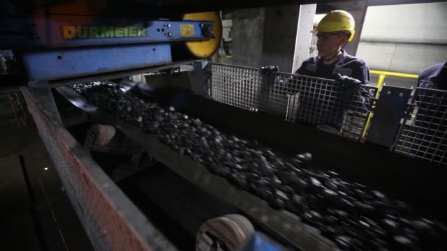 copper-nickel ore moves along a conveyor belt at the talnakh concentrator plant, operated by mmc norilsk nickel pjsc, in norilsk, russia, on... - nickel stock videos & royalty-free footage