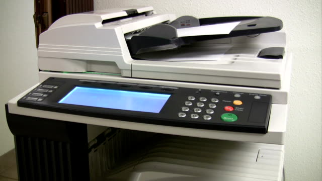 hd copy machine scanning and printing - photocopier stock videos and b-roll footage