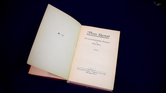 a copy of adolf hitler's political manifesto mein kampf will be auctioned at alexander historical auctions in chesapeake city maryland on friday - adolf hitler stock videos and b-roll footage