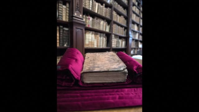 a copy of william shakespeares first folio the first ever compilation of the bards plays published in 1623 has been discovered in the library of an... - william shakespeare stock videos & royalty-free footage