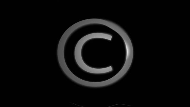 copyright symbol holographic motion background - intellectual property stock videos & royalty-free footage