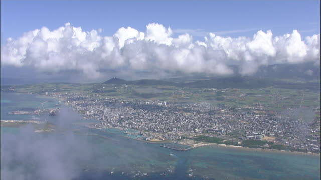 vidéos et rushes de coral reef, ishigaki island, okinawa prefecture, aerial shot - île