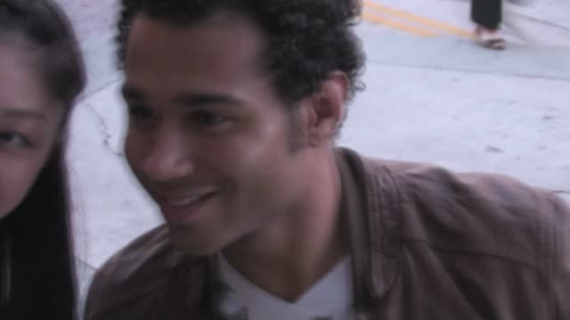 corbin bleu at the 'jack and jill' premiere in westwood on 11/6/2011 - ウェストウッド地区点の映像素材/bロール