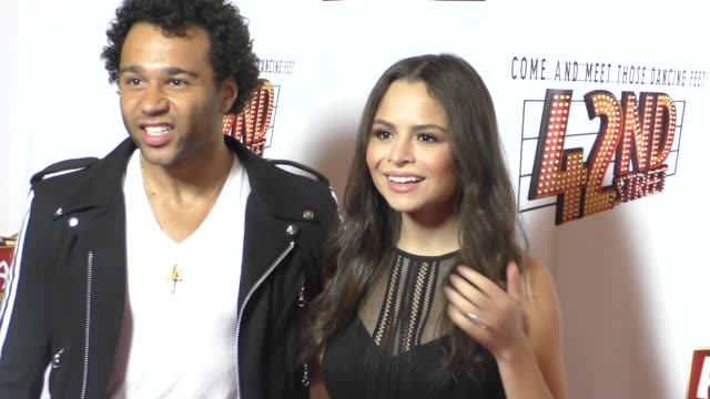 Corbin Bleu Sasha Clements at the Opening Night Of 42nd Street at the Pantages Theatre in Hollywood in Celebrity Sightings in Los Angeles