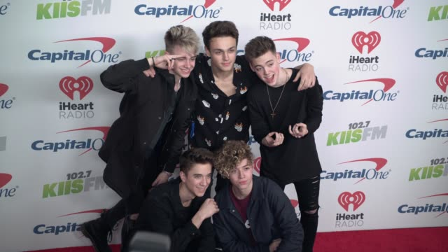 Corbyn Besson Jonah Marais Zach Herron Daniel Seavey and Jack Avery at the KIIS FM's iHeartRadio Jingle Ball 2017 at The Forum on December 1 2017 in...