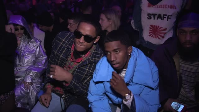 cordell broadus and christian combs front row for the off white ready to wear fall winter 2018 fashion show in paris paris france on thursday march... - cordell broadus stock videos & royalty-free footage