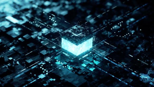 accensione del nucleo - futuristic video stock e b–roll