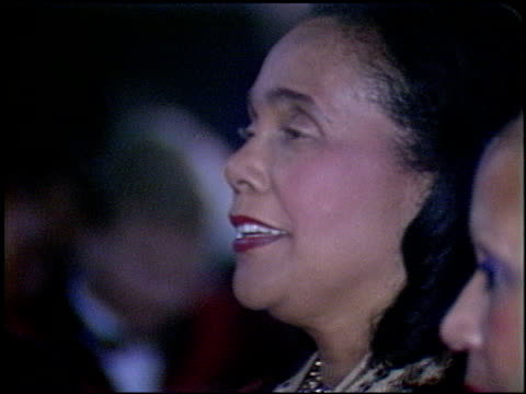 coretta king at the 1986 emmy awards at the pasadena civic auditorium in pasadena california on september 21 1986 - pasadena civic auditorium stock videos & royalty-free footage