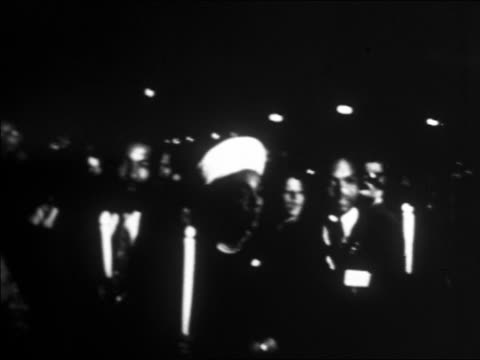 coretta scott king leading marchers in candlelit vigil / washington dc / newsreel - 1968 stock videos & royalty-free footage