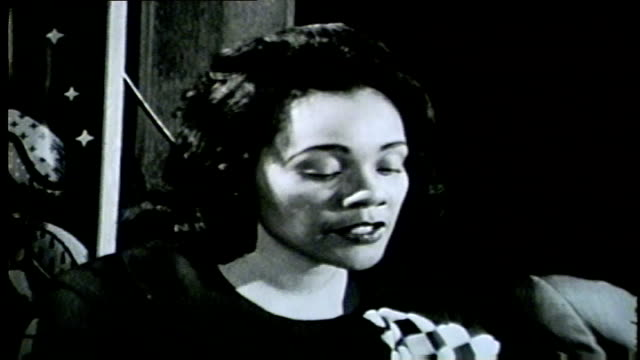 coretta scott king makes a statement to members of the press after martin luther king jr. was assassinated in memphis on april 4, 1968. - 1968 stock videos & royalty-free footage