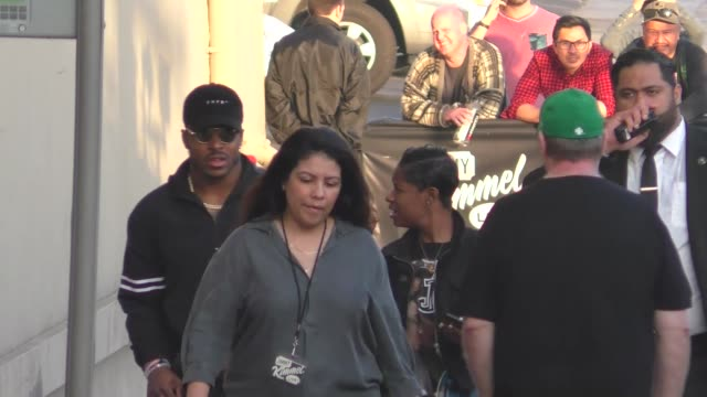 corey clement of the philadelphia eagles outside jimmy kimmel live in hollywood in celebrity sightings in los angeles, - philadelphia eagles stock videos & royalty-free footage