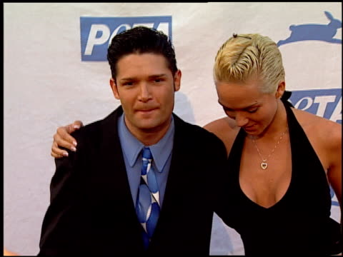 corey feldman and susie sprague at the peta's 25th anniversary gala and humanitarian awards show at paramount studios in hollywood california on... - 25th anniversary stock videos & royalty-free footage
