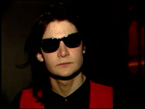 corey feldman at the armenian relief video at paramount studios in hollywood california on january 29 1989 - 1989 stock videos & royalty-free footage