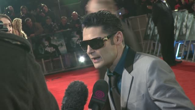 corey feldman at the woman in black world premiere at the royal festival hall on january 24, 2012 in london, england. - royal festival hall stock videos & royalty-free footage