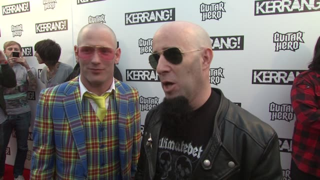 Corey Taylor and Scott Ian on hosting the show and the state of metal music at the Kerrang Awards at London England