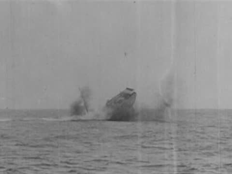 corfu attacked and sunk by german u 35 submarine - ship stock videos & royalty-free footage