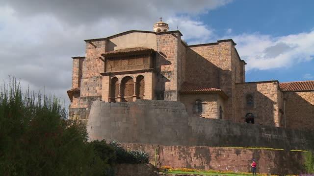 corincancha temple in cusco, peru - convent stock videos & royalty-free footage