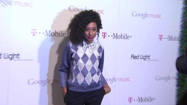 corinne bailey rae at red light management postgrammy celebration hosted by tmobile and google music on 2/12/12 in los angeles ca - google brand name stock videos and b-roll footage
