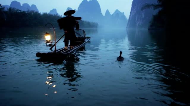 Cormorant Fisherman on river lee