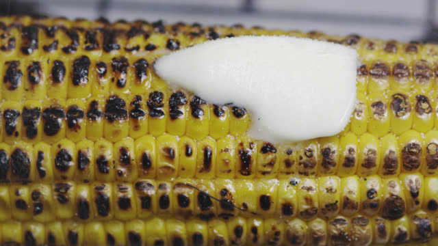 corn on the cob - melting butter stock videos & royalty-free footage