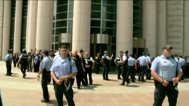 KTVI Cornel West Arrested With Other Ferguson Protesters in Front of St Louis Federal Courthouse on Moral Monday on August 10 2015 in St Louis...