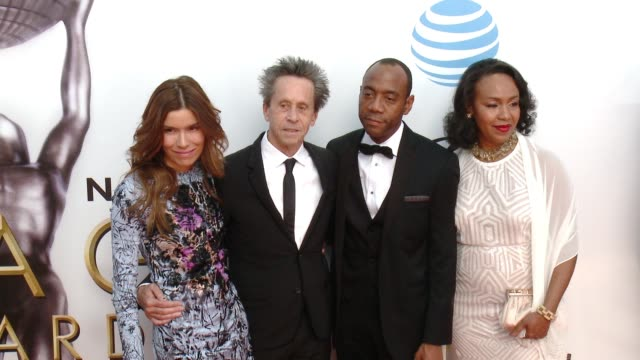 cornell william brooks and brian grazer at 47th annual naacp image awards at pasadena civic auditorium on february 05 2016 in pasadena california - pasadena civic auditorium stock-videos und b-roll-filmmaterial