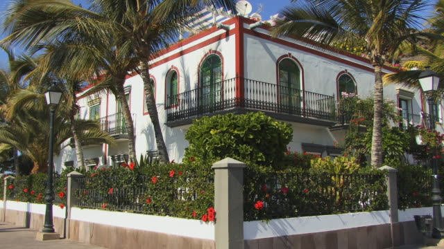 ms corner of waterfront home/ puerto de mogan, grand canary, canary islands - grand canary stock videos and b-roll footage