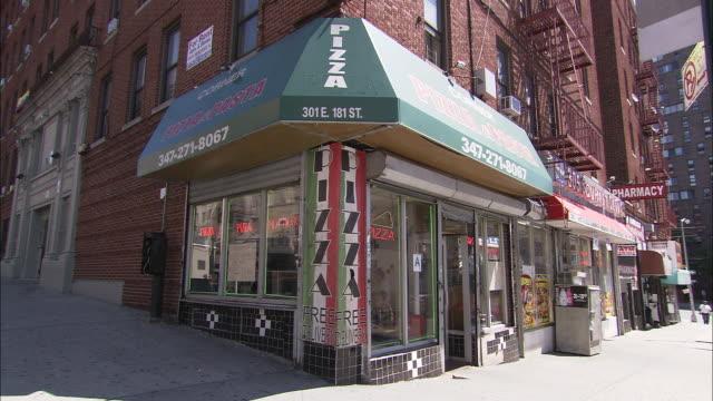 corner pizza & pasta - bronx new york stock videos and b-roll footage