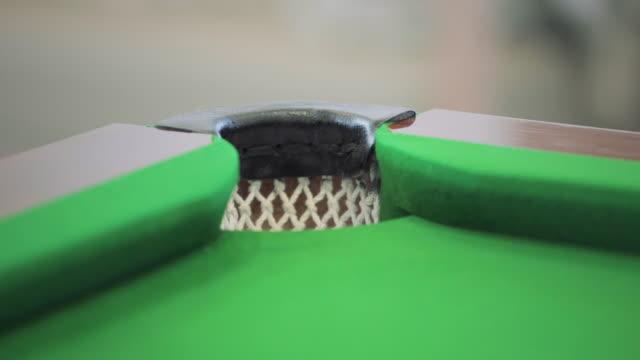 corner pocket shot on a pool table - pocket stock videos & royalty-free footage
