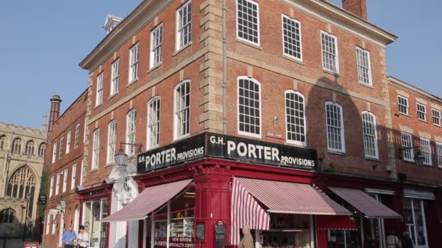 Corner Shop on Market Square, Newark, Nottinghamshire, England, UK, Europe