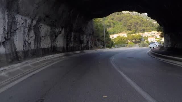 corniche rear pov - 乗物後部から見た視点点の映像素材/bロール