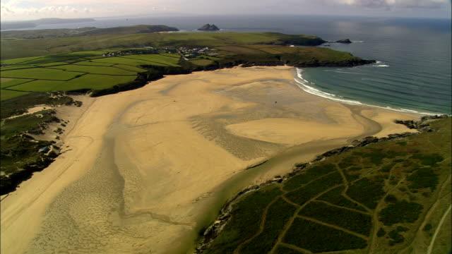 Vista aérea costa da Cornualha-Inglaterra, Reino Unido